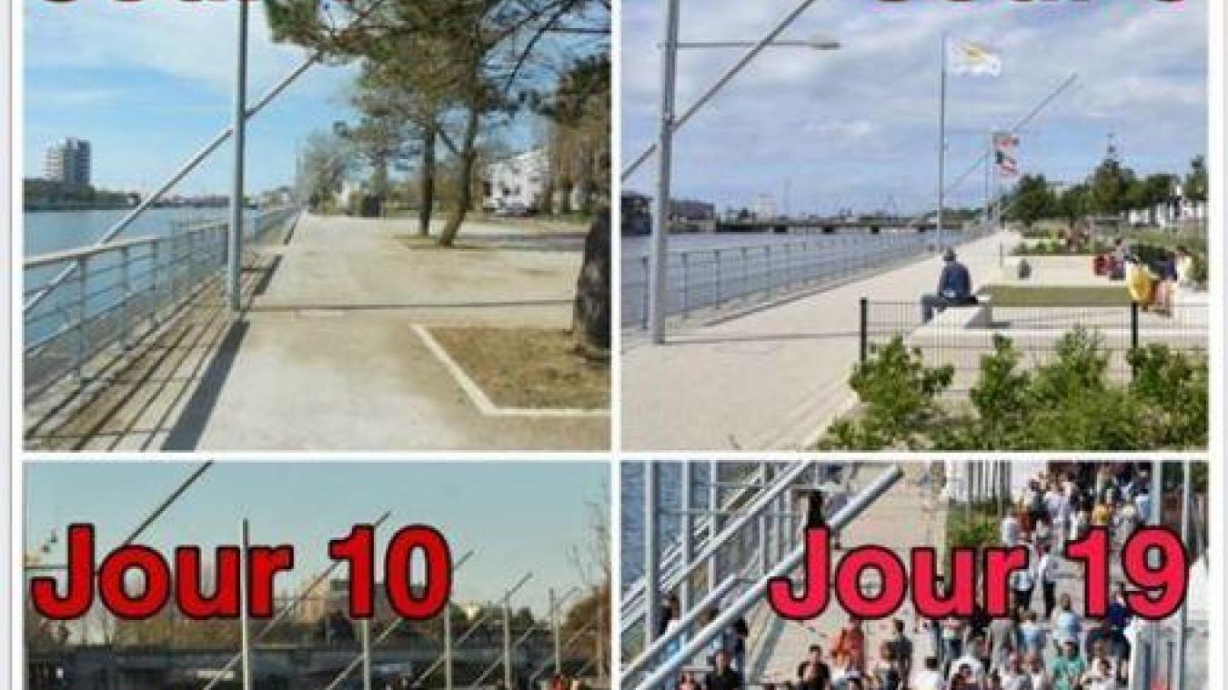 Un exemple de photos montage qu'affectionne l'auteur de la page Boulogne city gang : Boulogne-sur-Mer au fur et à mesure du confinement.