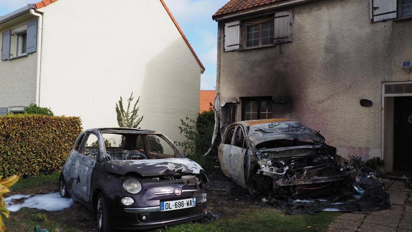 Les deux voitures ont été incendiées dans la nuit de samedi à dimanche. Un énième épisode dans les multiples dégradations que subit cette habitante de Coulogne.