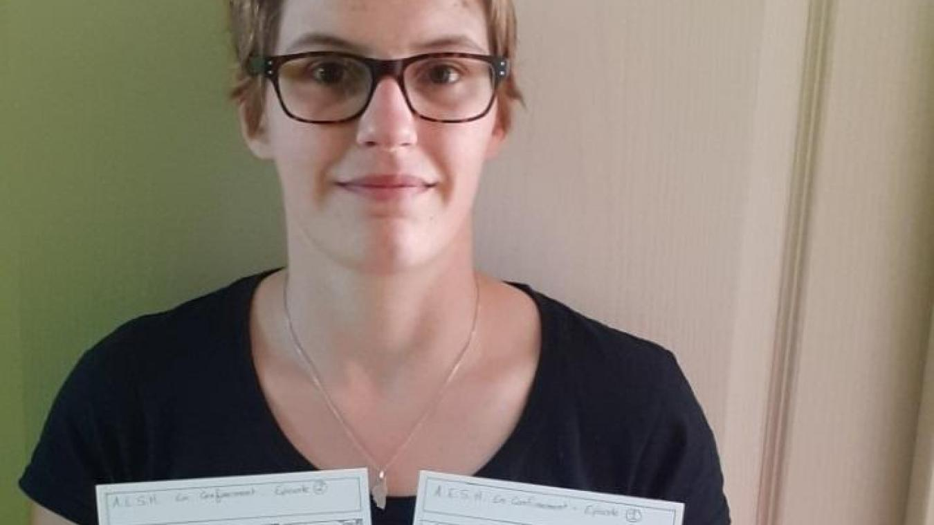 Amandine Gosselin est l'auteure de la BD parue dans le journal du groupe scolaire.
