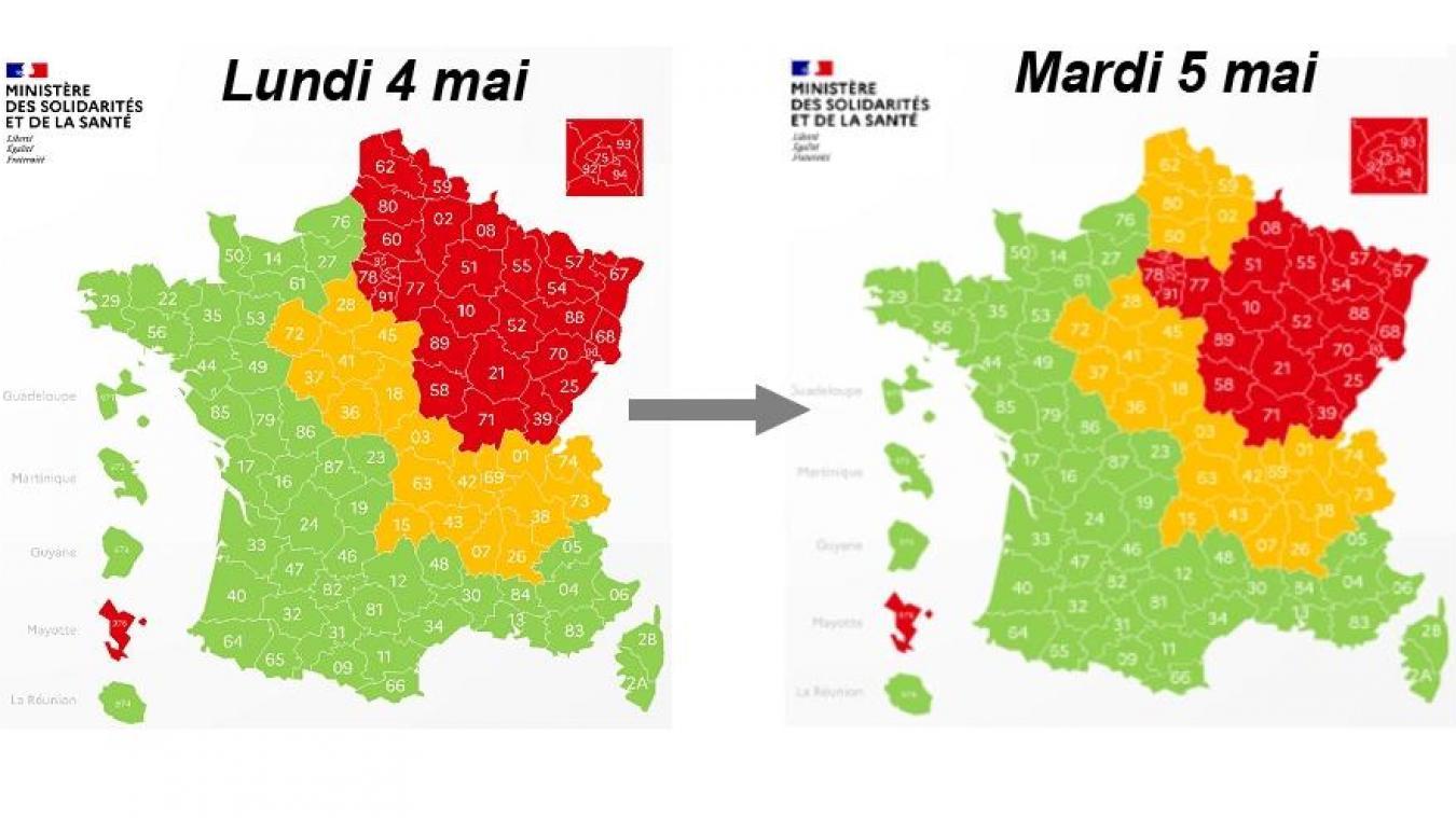 Carte De Deconfinement Le Nord Et Le Pas De Calais En Orange