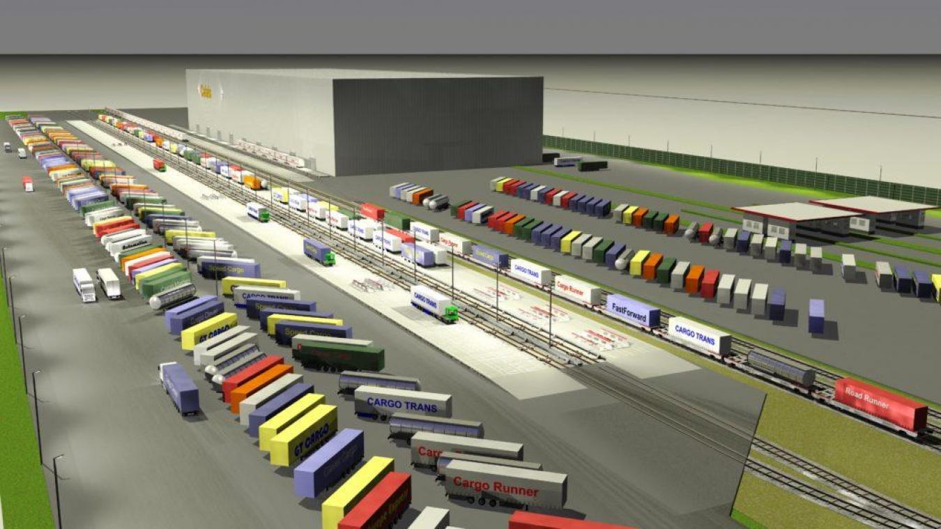 Calais: les travaux de la plate-forme de ferroutage Cargo Beamer ont débuté