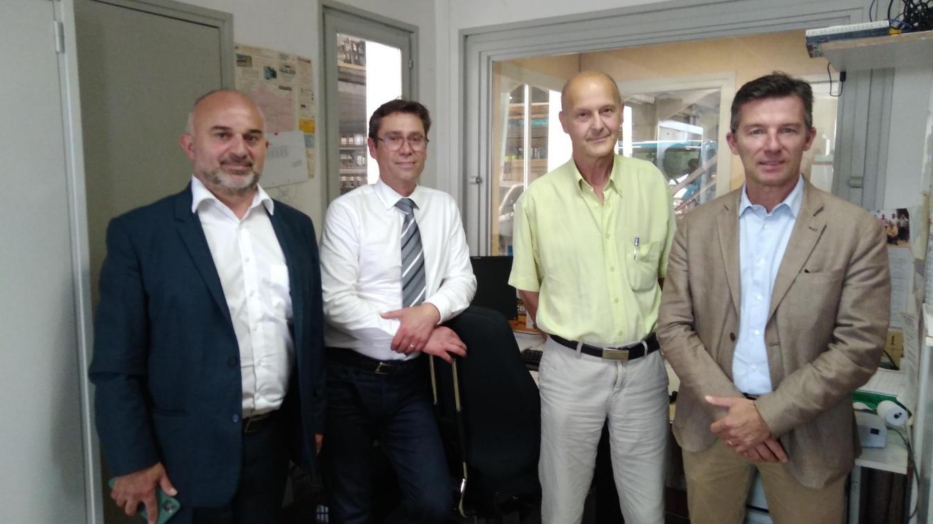 Salvatore Tuttolomondo était avec Philippe Mignonet dans l'entreprise Joly location dirigée par Alain Philipson. A droite, Nicolas Prouvot.