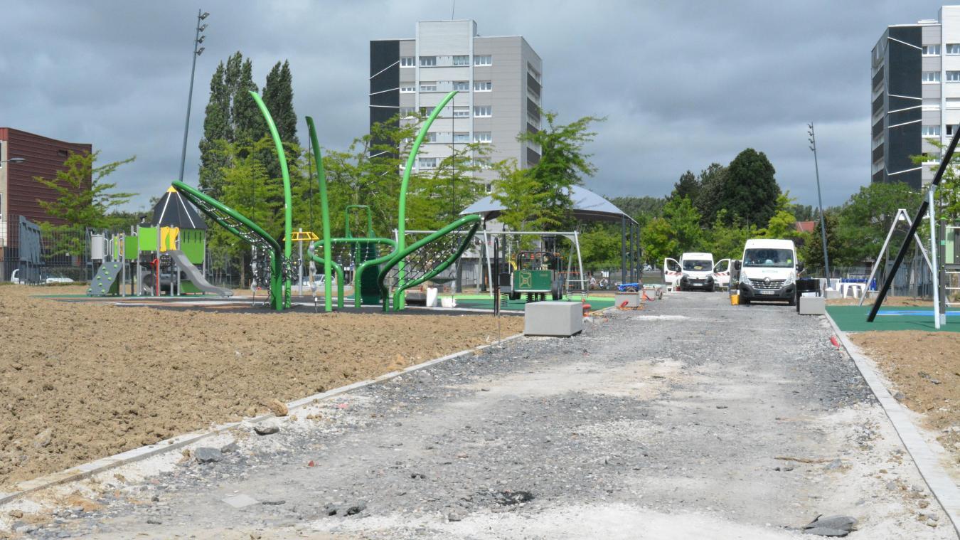 Le nouveau parc du Mont-Liébaut commence à prendre forme.