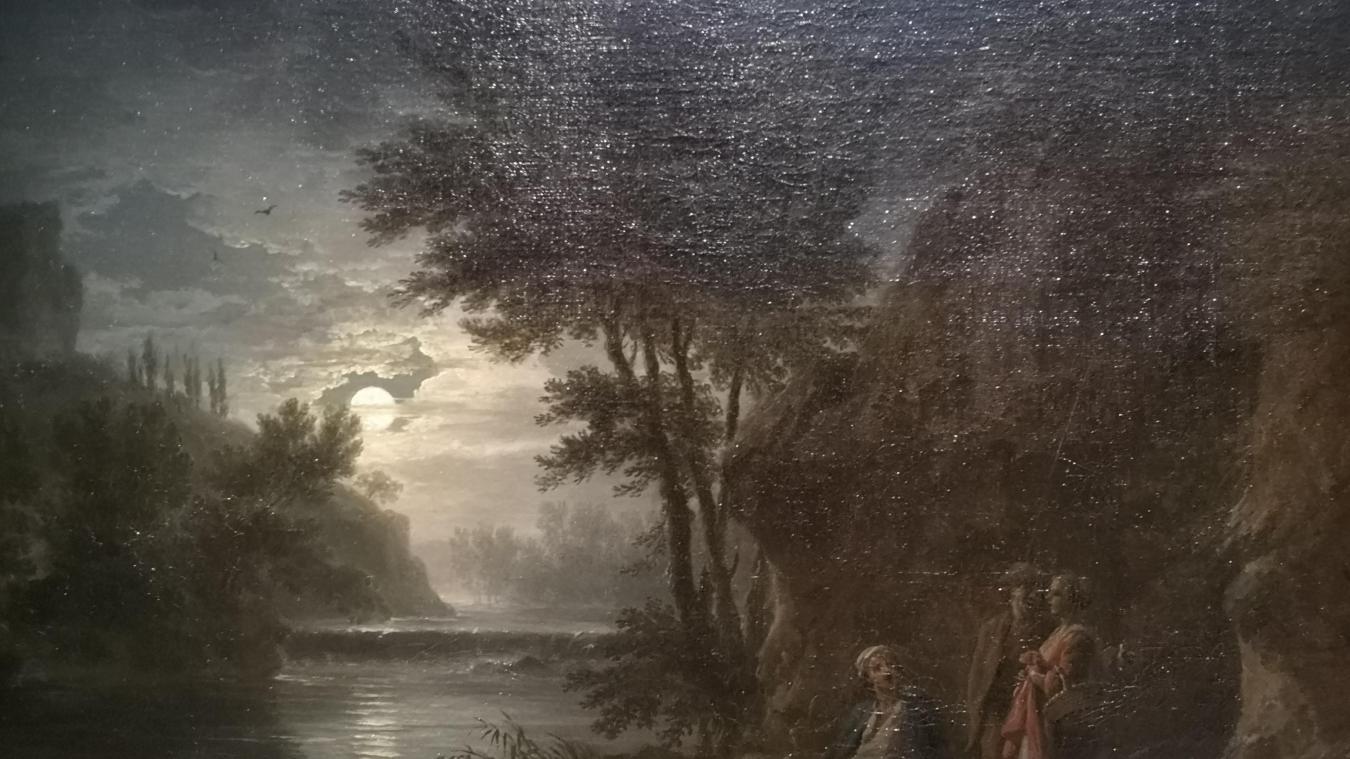 Paysage, effet clair de lune, de Joseph Vernet.