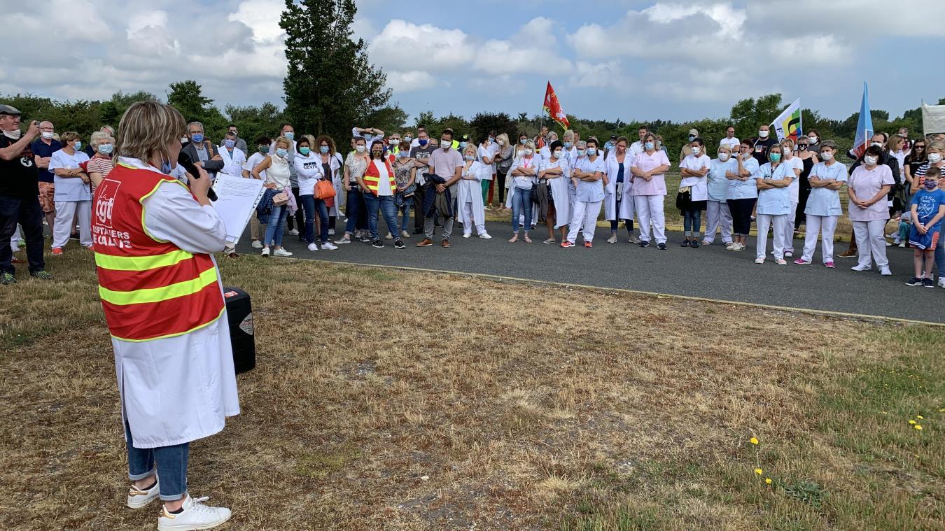 En juin, les hospitaliers se sont mobilisés à deux reprises à Calais dans le cadre du mouvement national.