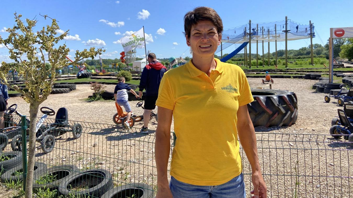 Nathalie Flahaut, la directrice du Laby'Parc, est contente d'avoir pu rouvir.