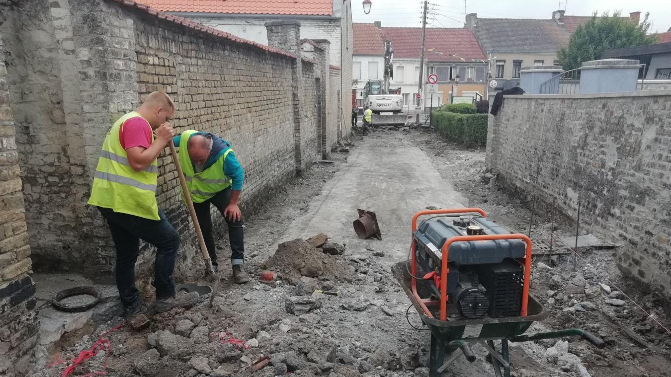 Le chantier devrait se poursuivre jusqu'au 25 juillet.