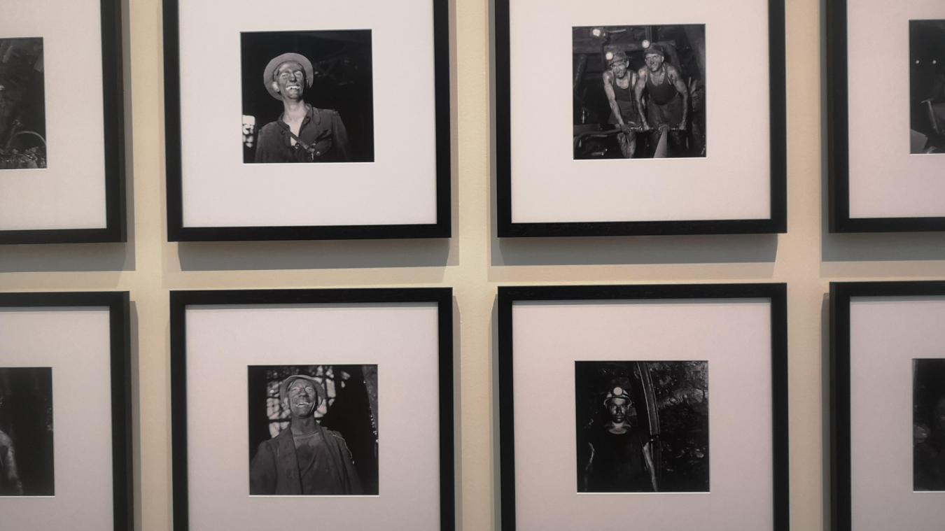 Photos de gueules noires au fond de la mine (prêt du musée de Lewarde).