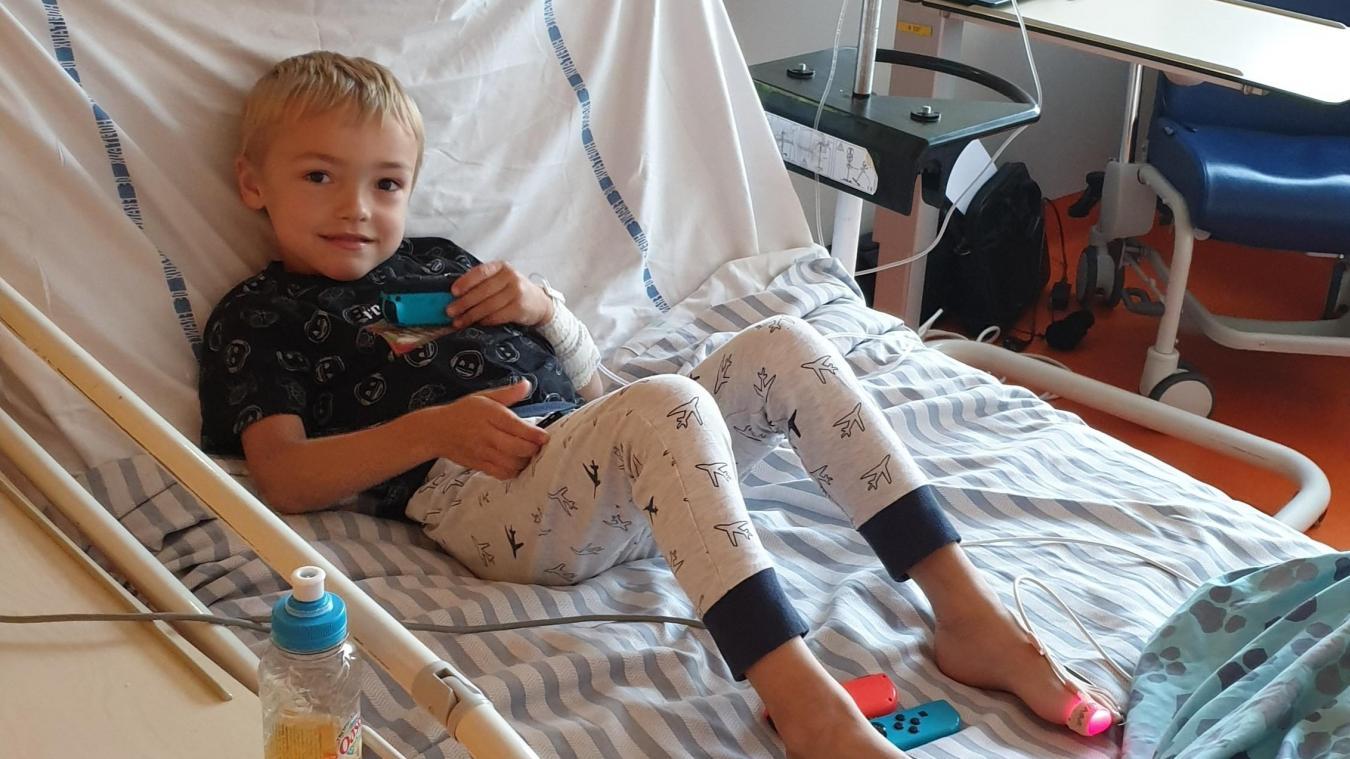 Erwan, 6 ans, est atteint de mucoviscidose depuis la naissance.