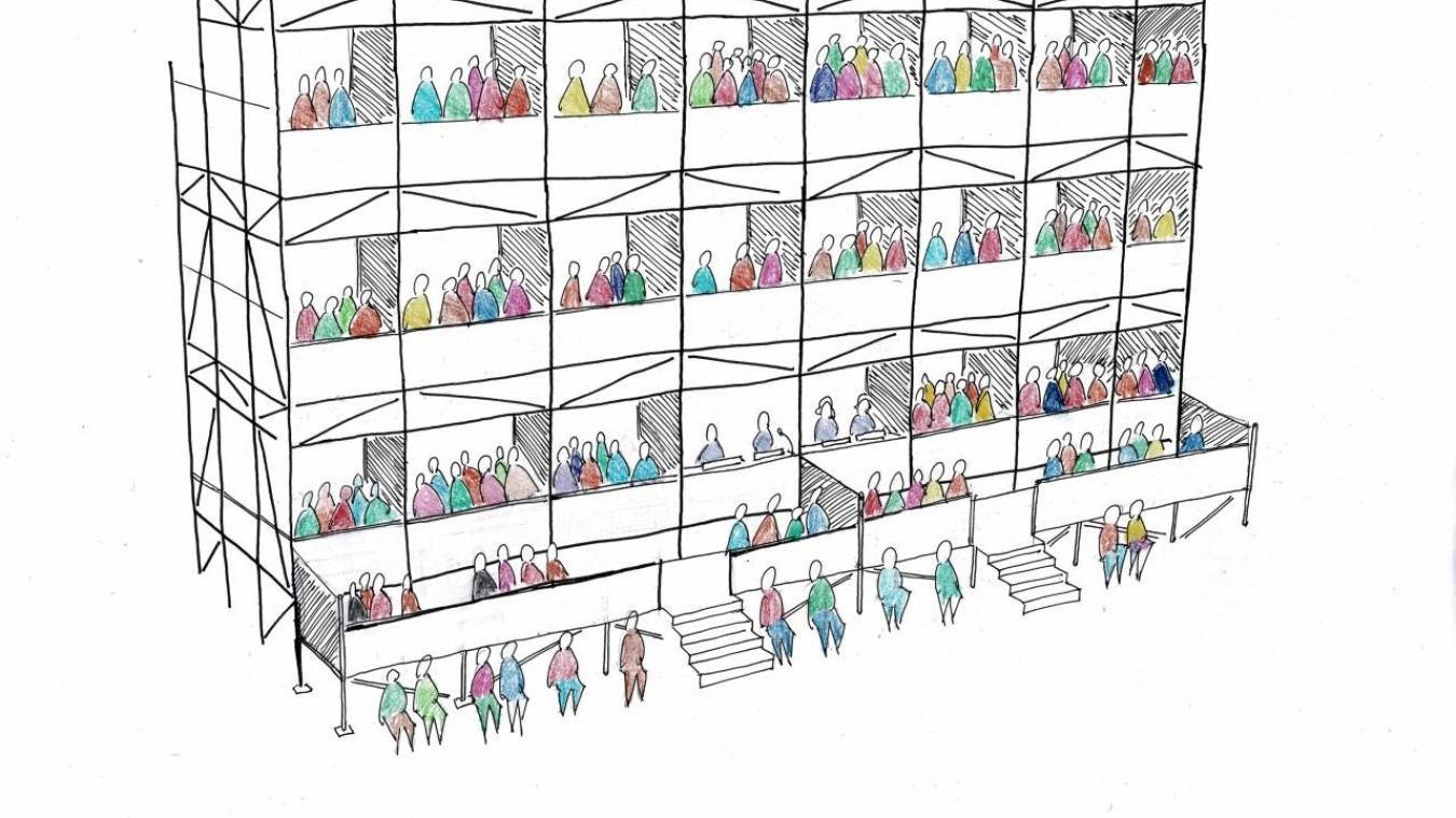 Distanciation sanitaire: des balcons vont être installés au Channel à Calais