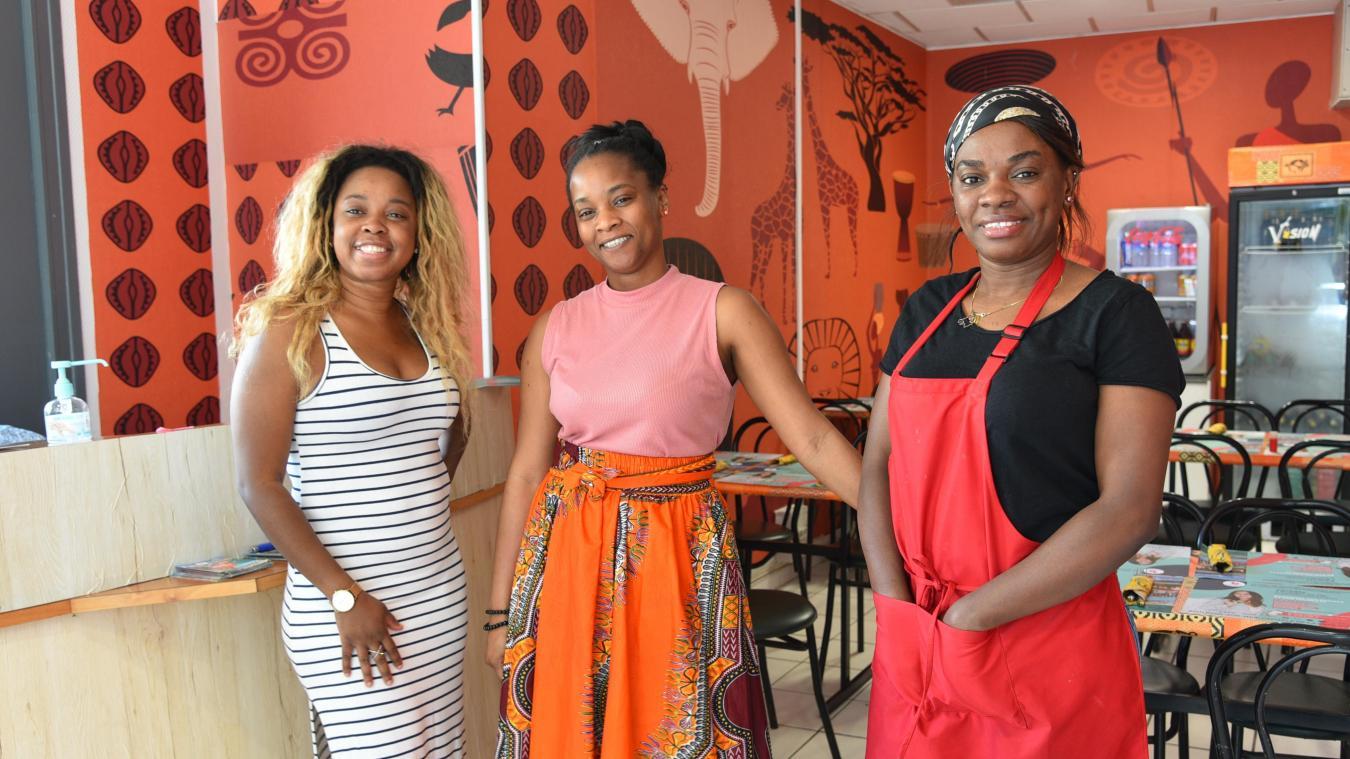 Pulcherie, Michelle et Emmanuella ont totalement réaménagé les locaux, qui étaient ceux   d'un   électricien.