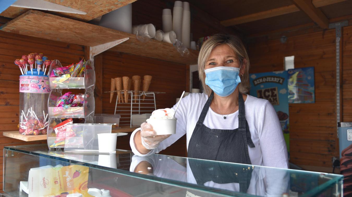 Nathalie Hanon propose les yaourts glacés depuis six ans à Ambleteuse et trois ans à Wimereux.