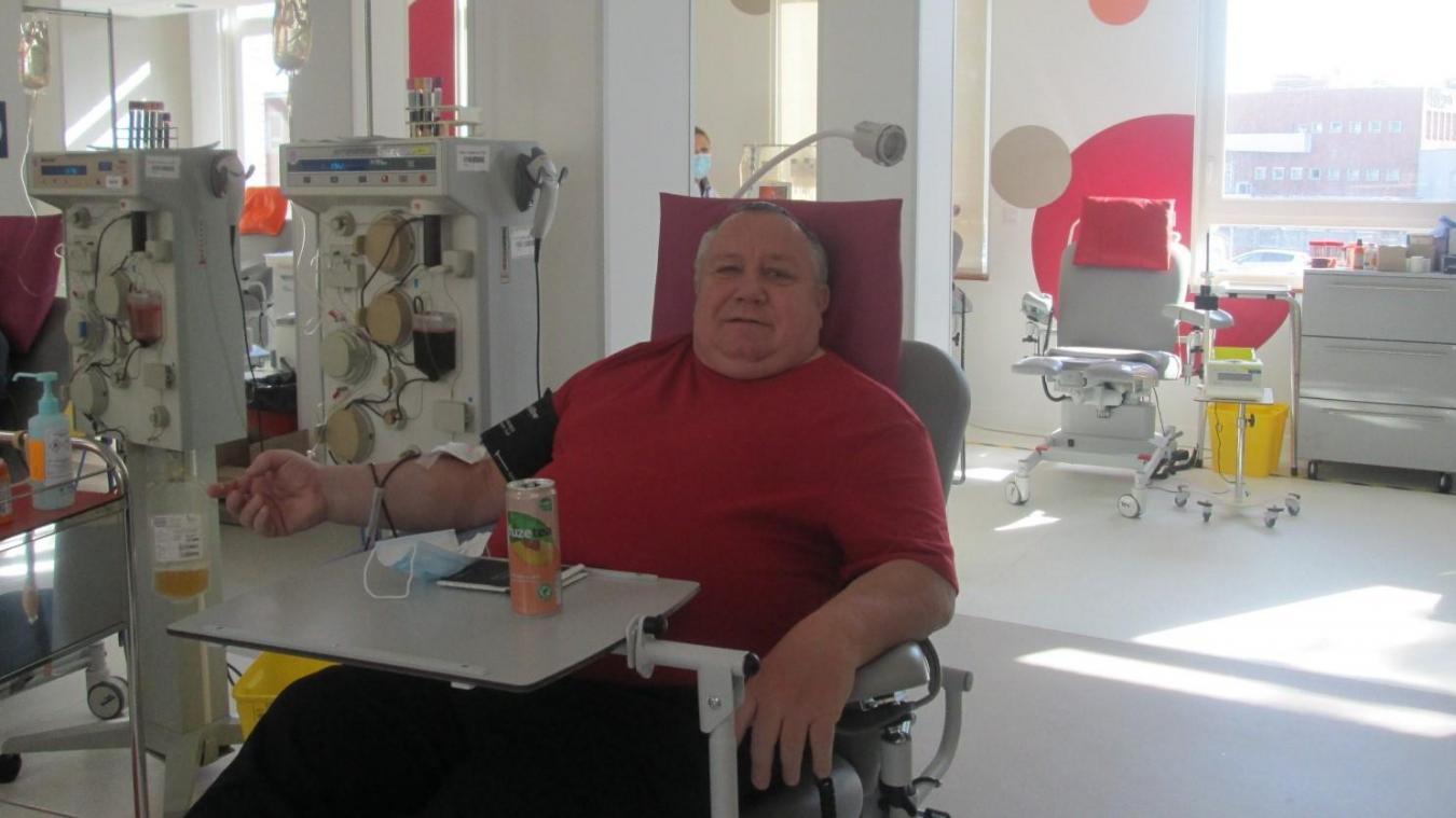 Gilles Mesureur est un habitué des dons du sang.