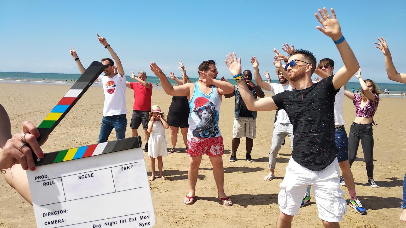 Vendredi dernier, Alexis Prévost a tourné le clip de son nouveau morceau à la plage de Calais.