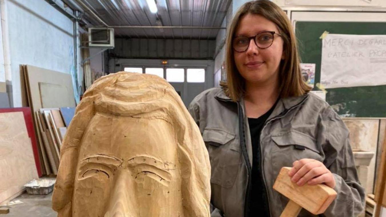 Erika Olive, 20 ans, réalise le futur géant Joseph.