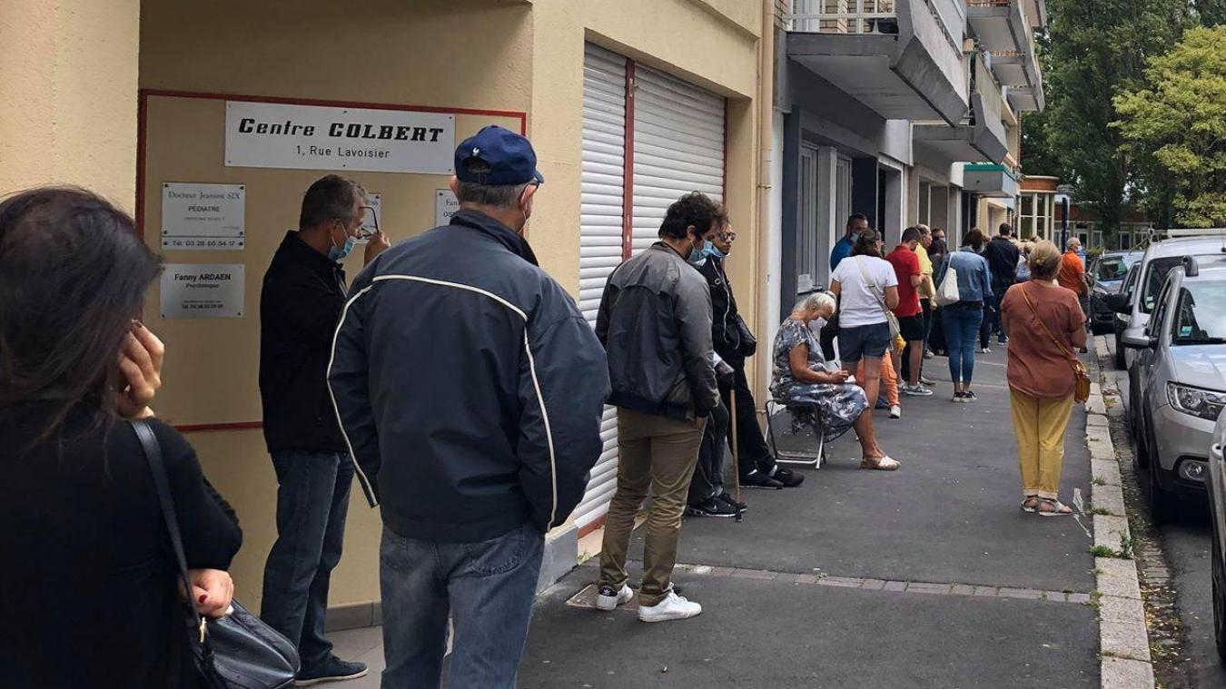 1er jour de test sans ordonnance : les Dunkerquois font la queue