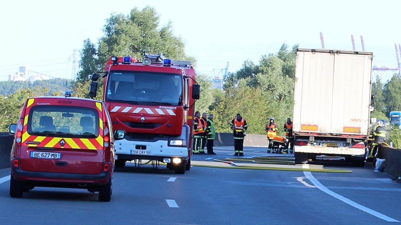 La circulation est coupée sur la N316, dans le sens Xraywick - Loon-Plage.