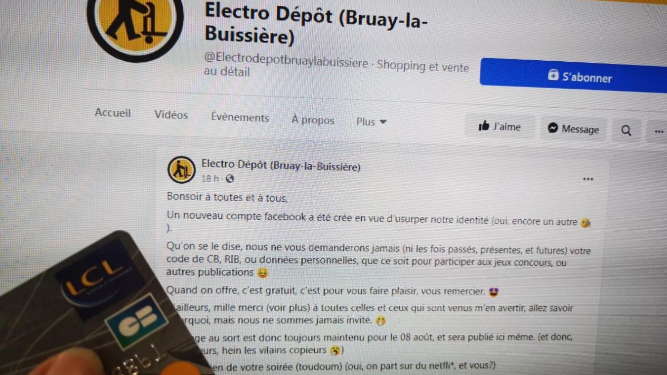 Bruay-la-Buissière: un arnaqueur copie la page Facebook d'Électro Dépôt