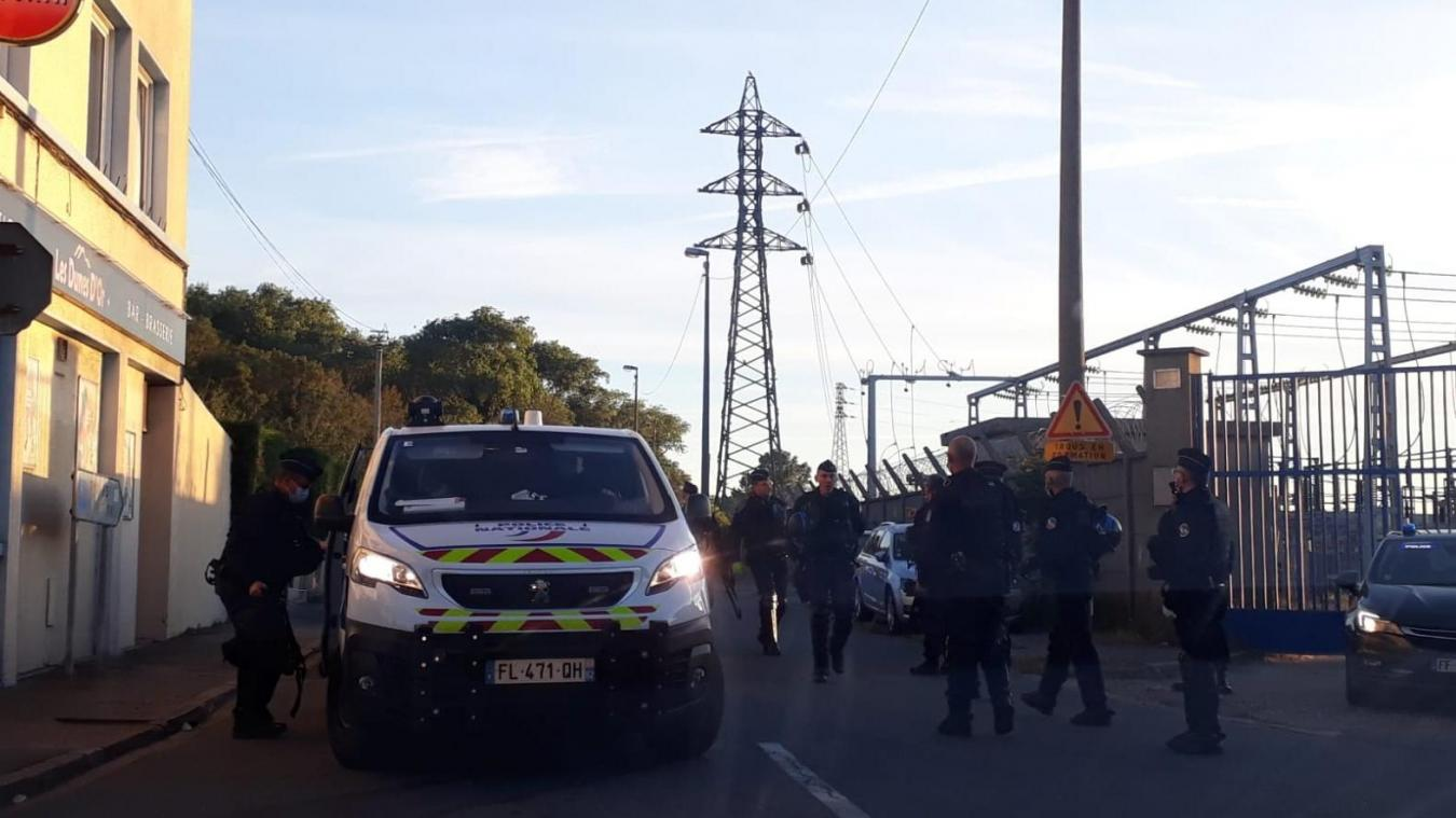 Migrants: intervention des forces de l'ordre en cours au bois Dubrulle à Calais