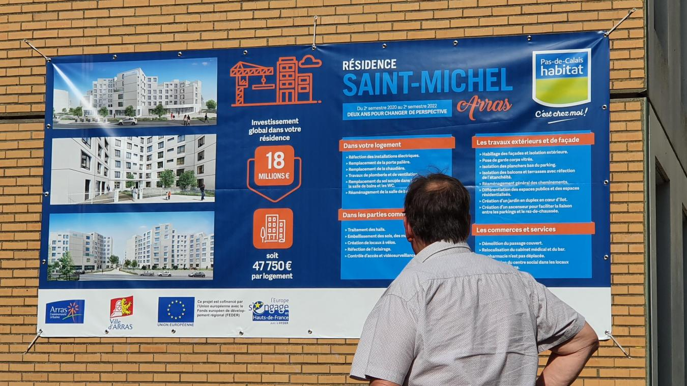 Le projet de la rénovation de la résidence Saint-Michel a été écouté attentivement par les locataires du quartier.