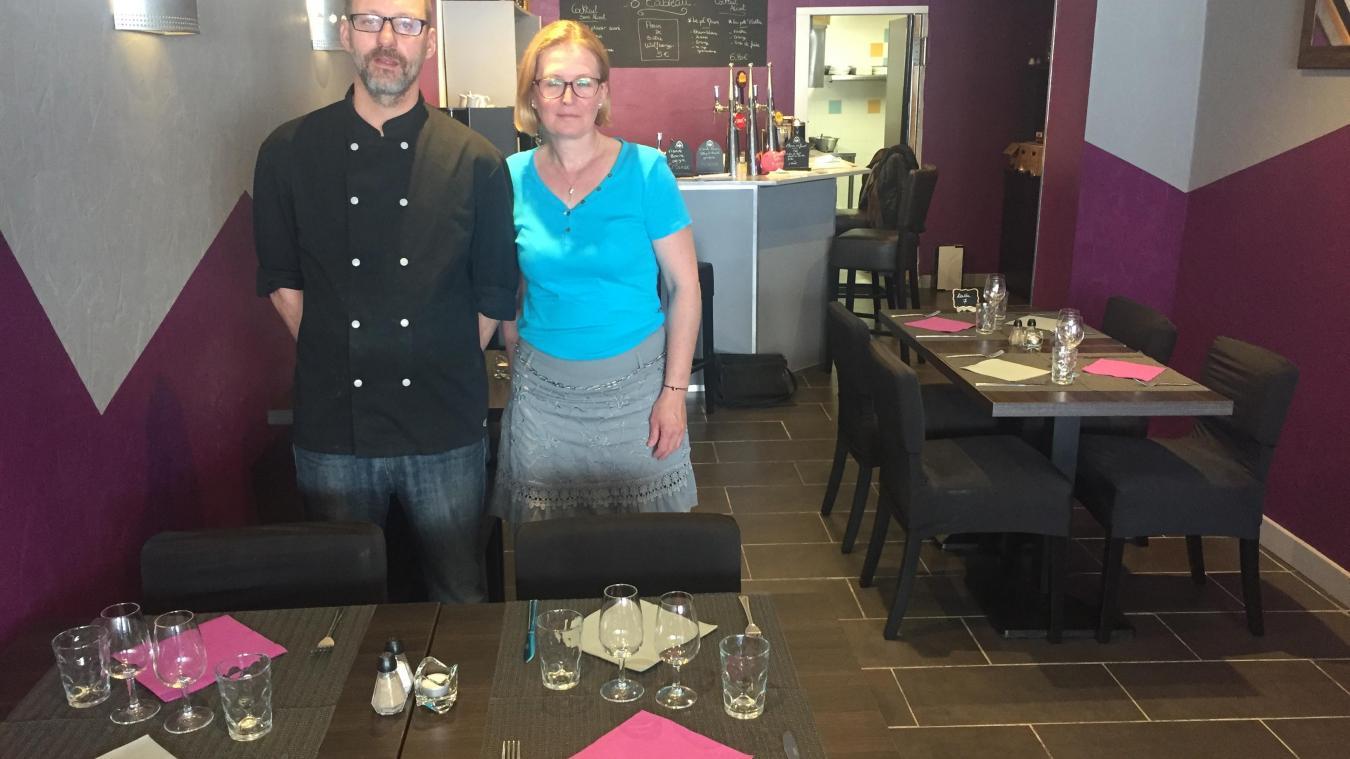 Eric Degueldre et Emmanuelle Lefebvre ont ouvert leur restaurant Ô Tableau le 15 juillet.