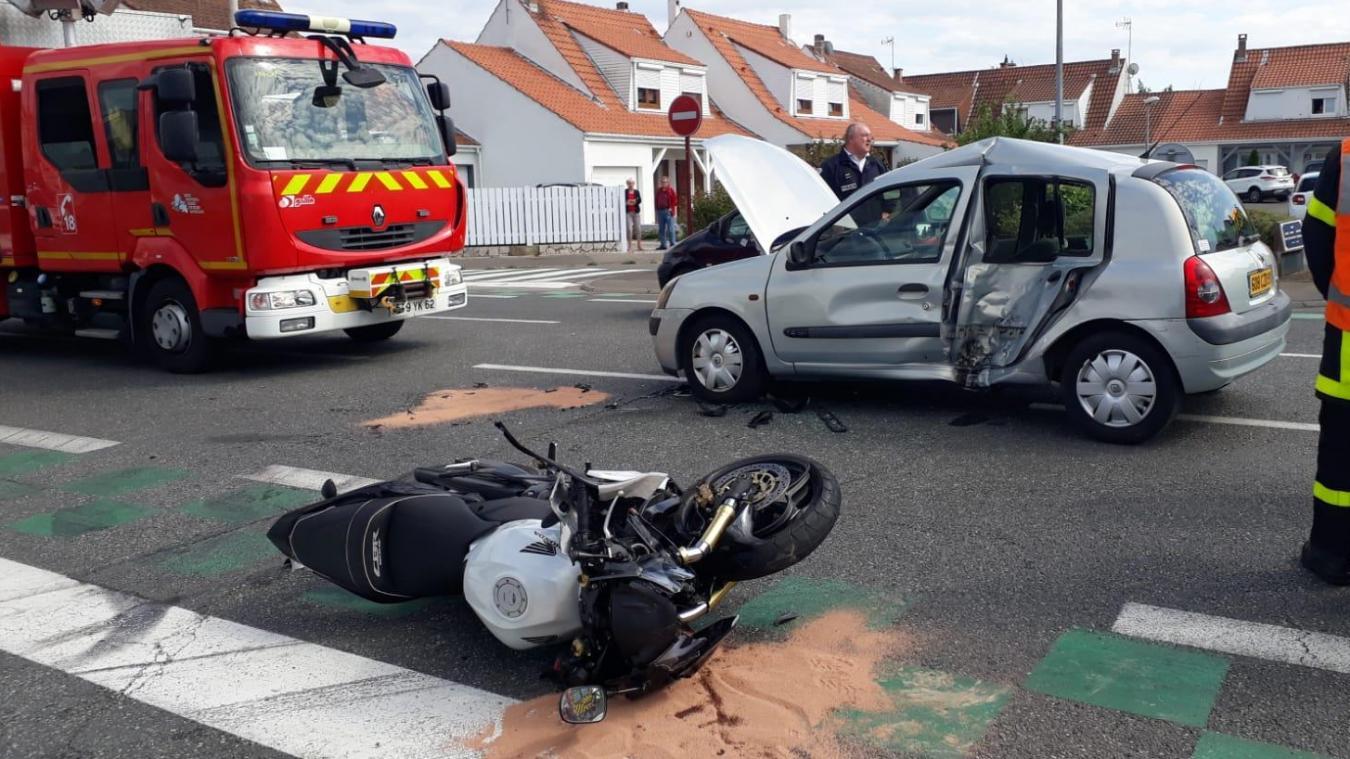Calais: Trois blessés dans un accident avenue Saint-Exupéry