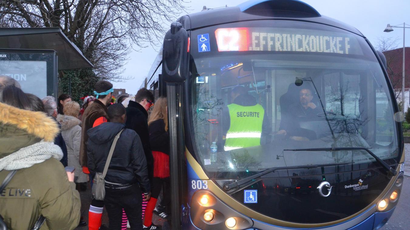 Le dispositif de Dk'Bus va être renforcé sur les événements d'ampleur, ou ajusté quand il est déjà existant, comme ici aux Trois-Joyeuses.