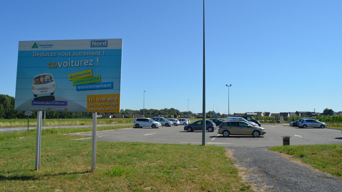 L'aire de covoiturage de Lillers a été inaugurée en 2014.