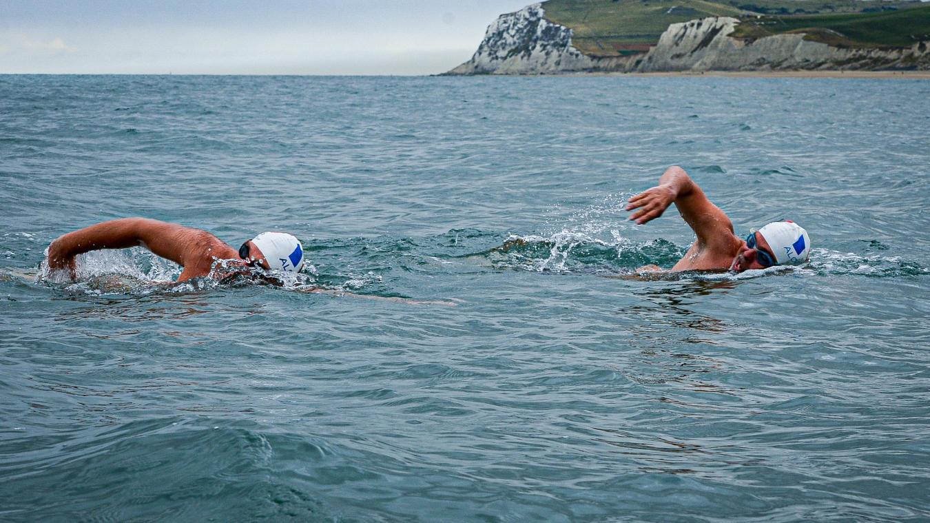 Arnaud Chassery et Nino Fraguela devraient batailler durant une quinzaine d'heures dans la Manche. ©  Manon Cruz
