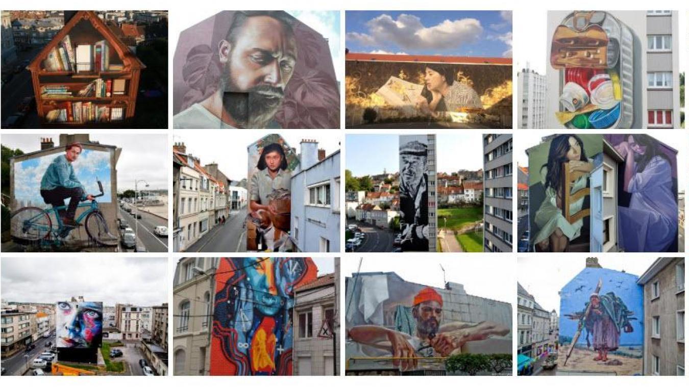 Dans un premier temps, vous devez voter pour vos cinq fresques préférées du parcours de street art de la ville de Boulogne-sur-Mer.