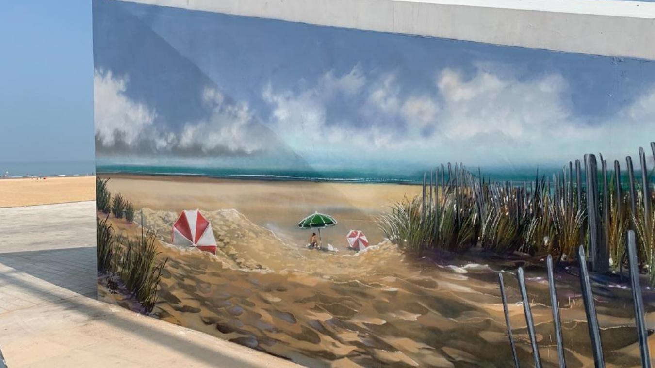 Made in Graffiti a réalisé ce paysage au village gourmand de la plage de Calais.