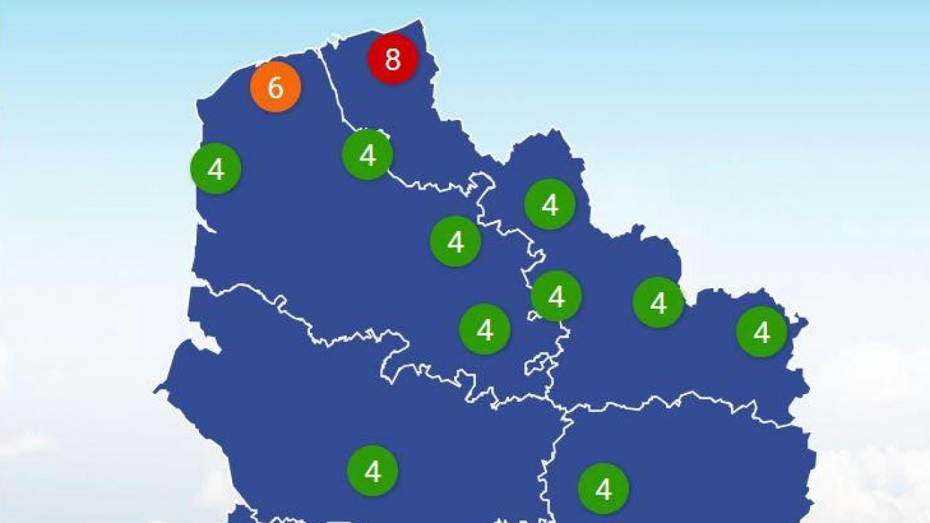 L'alerte à la pollution aux particules fines concerne essentiellement le littoral du département du Nord.