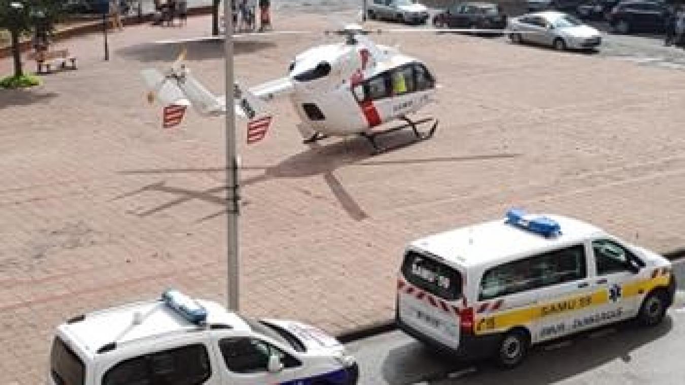 Les secours ont été dépêchés sur place, à Leffrinckoucke, afin de porter assistance à la victime.