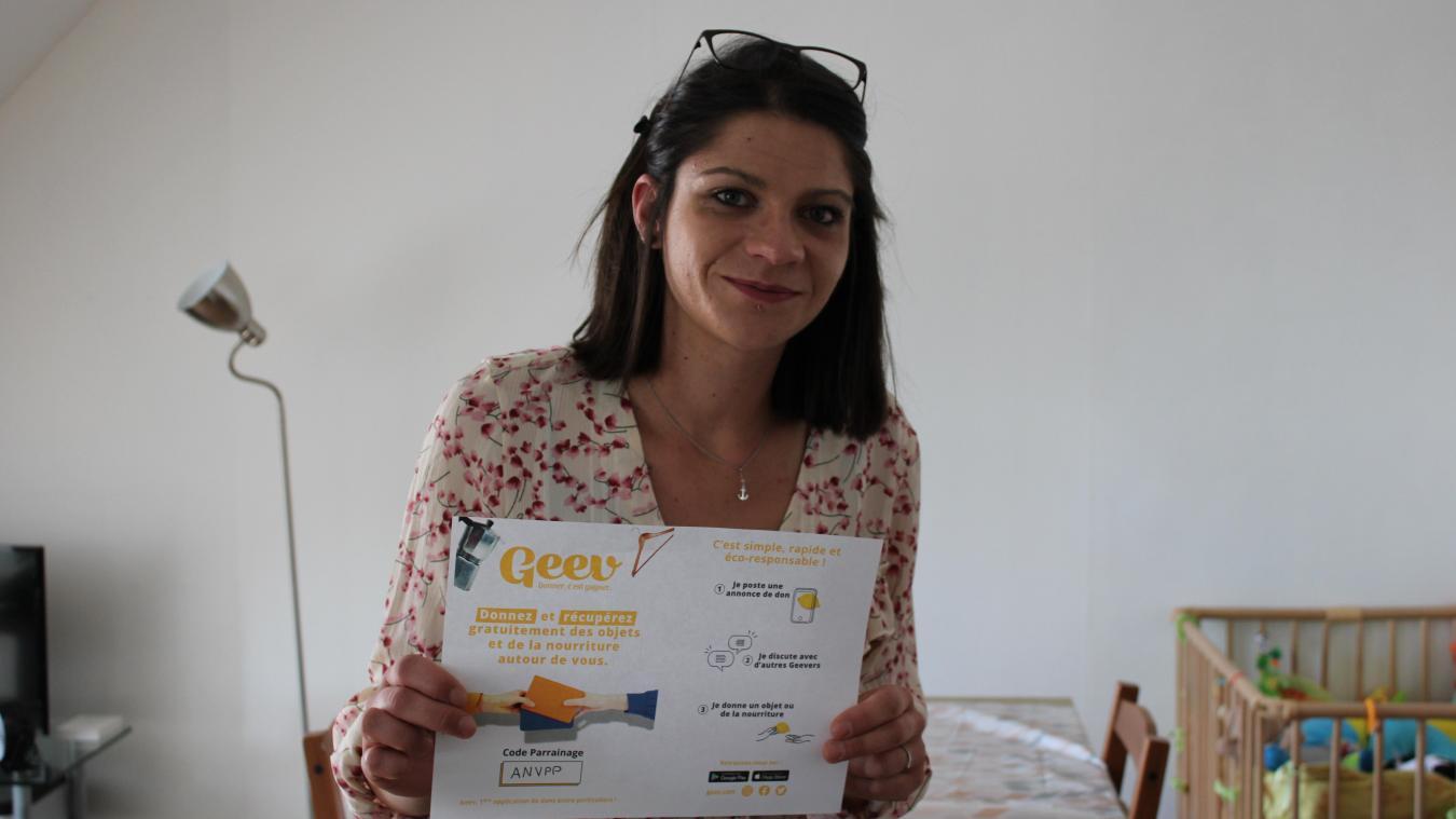 Louise Delcluze a fait plus de 2350 dons en deux ans, grâce à l'application Geev.
