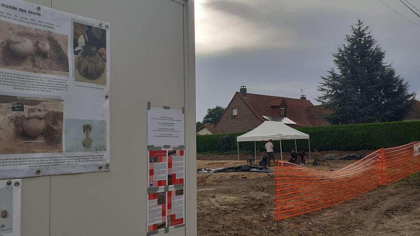 Des archéologues à l'affût de vestiges à Thérouanne