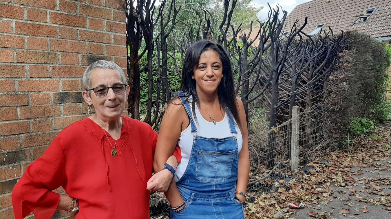 Malgré les sourires, les inquiétudes sont bien réelles pour les riverains de la rue Guyenne. Annicq Willmez (à droite) « ne dors plus la nuit », tandis que Fatima Belaidoumi (à gauche) déménage de sa maison.