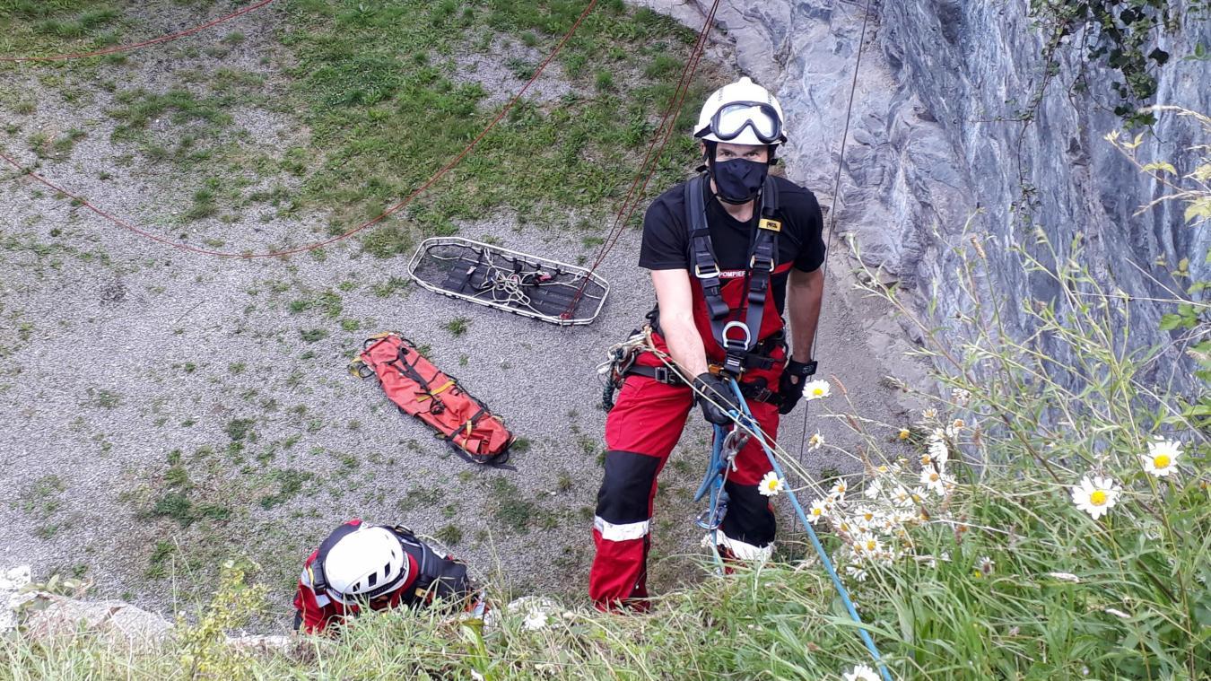 Les pompiers de l'unité SMPM viennent de tout le département, et s'entraînent par groupement.