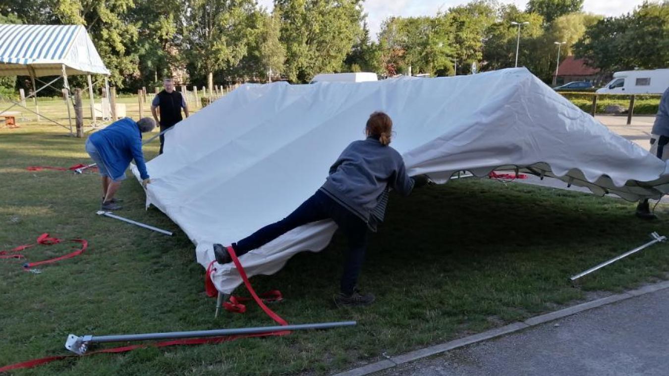 Les membres de l'association se sont rendus sur place pour démonter le matériel.