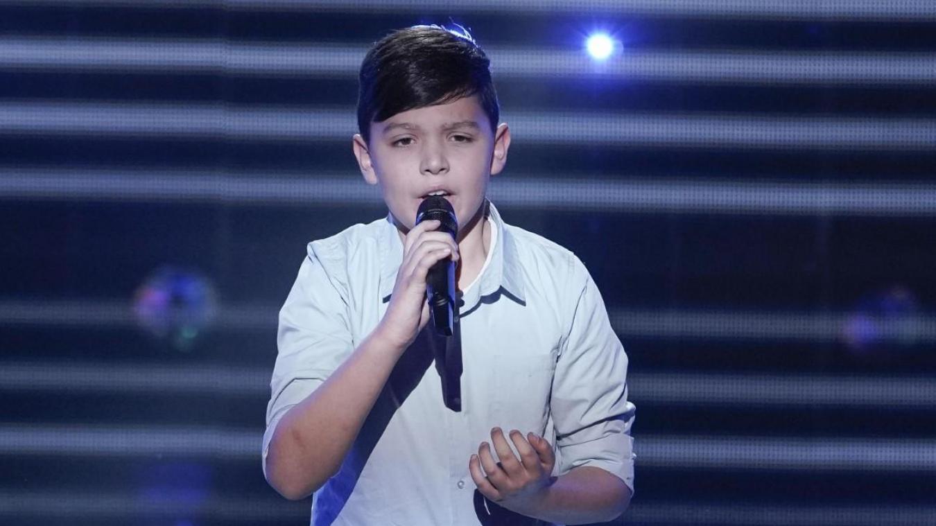 Thomas, lors de son premier passage à The Voice Kids. Diffusion le samedi 29 août à partir de 21h05 sur TF1.