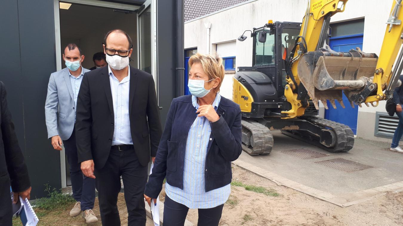 Le maire a mis un coup de pression sur le chantier des modulaires de Parmentier, trop en retard de son point de vue.