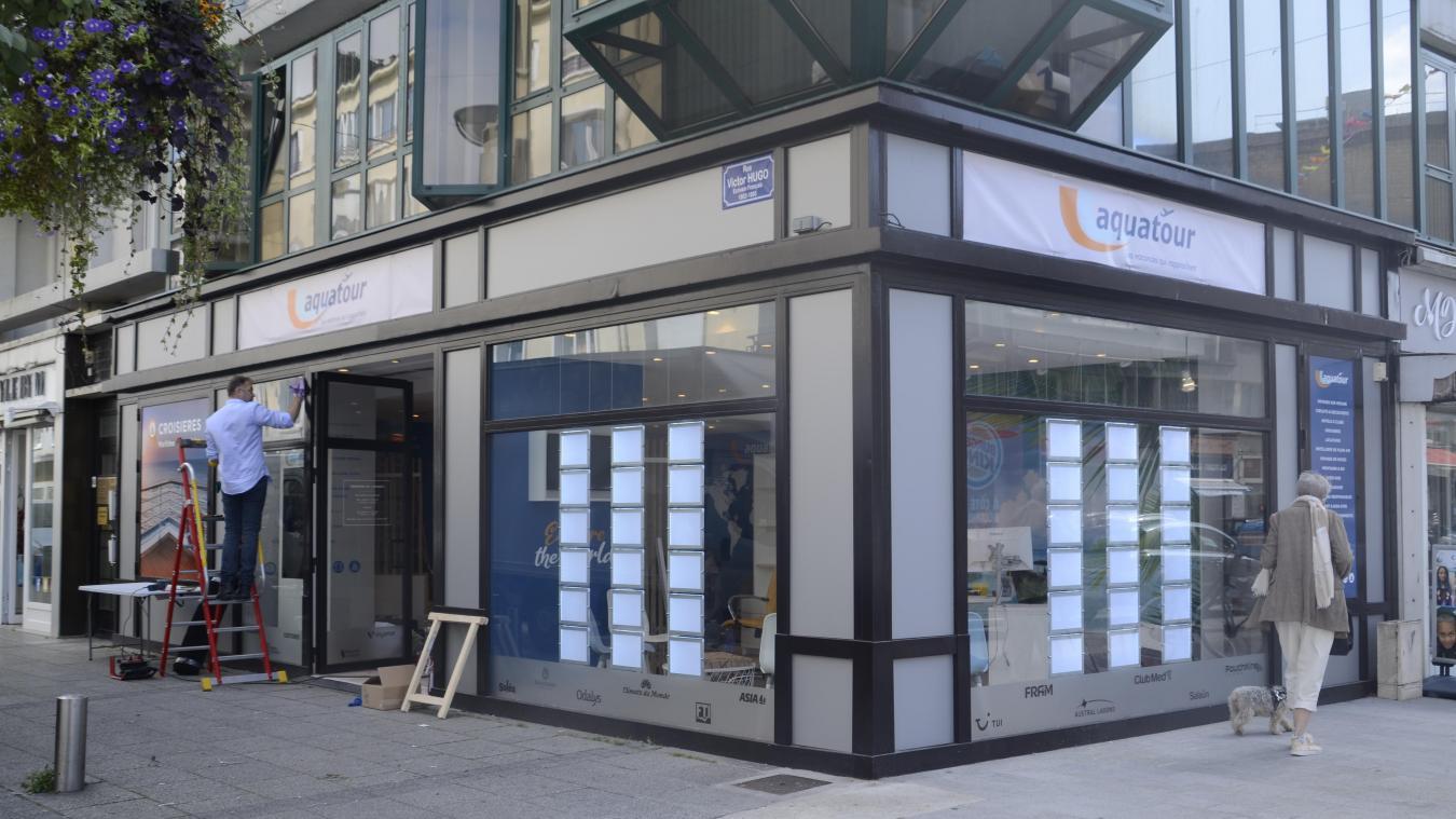 L'agence Aquatour a déménagé à quelques mètres de son local initial, rue Victor-Hugo.