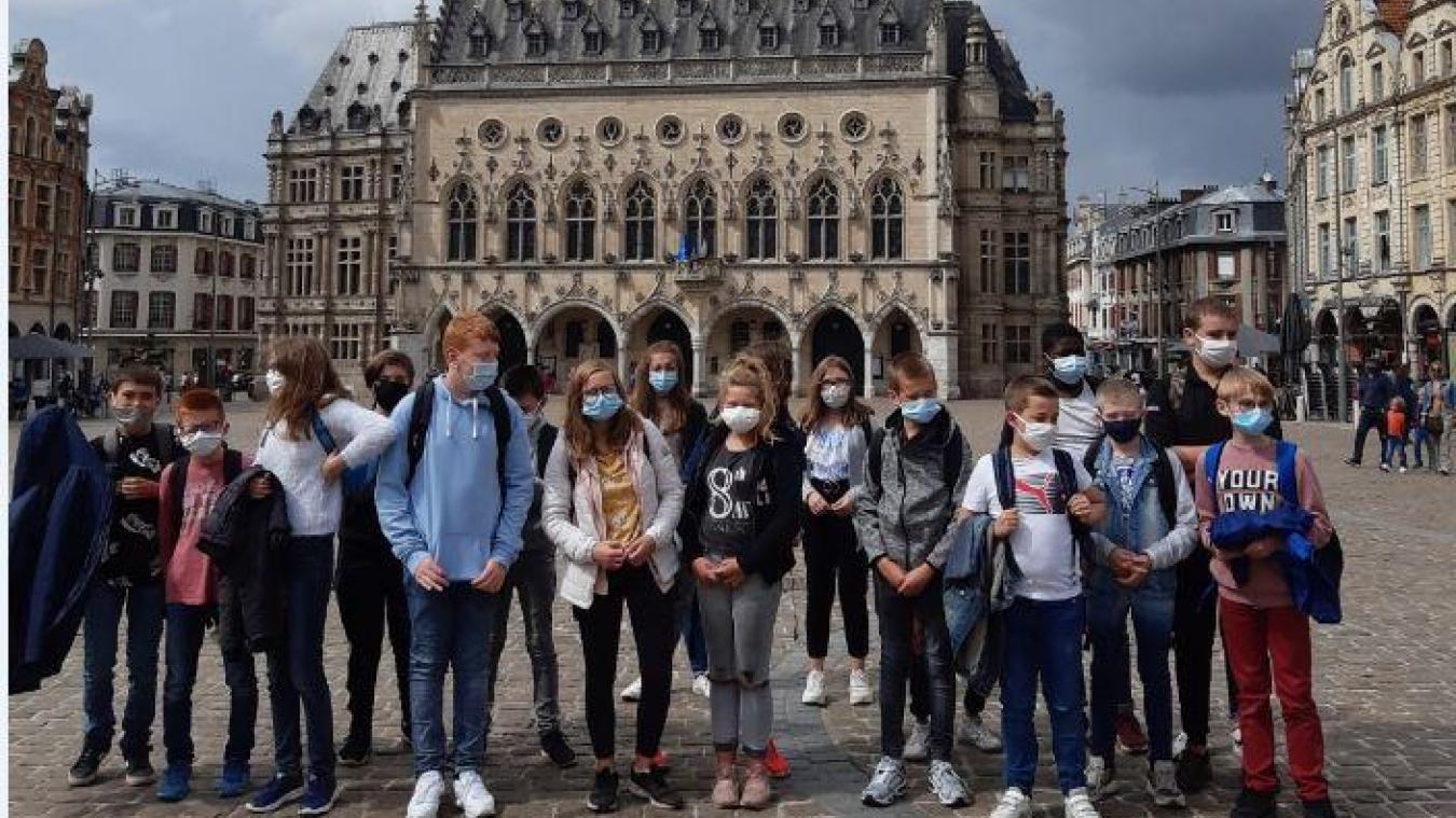 Pour leur dernier jour avant la rentrée, les élèves ont pu visiter le théâtre d'Arras.