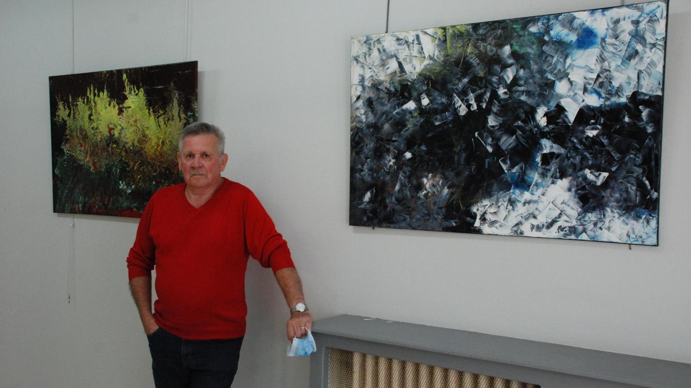 Marcel Deldique, un artiste autodidacte qui aime jouer de la matière.