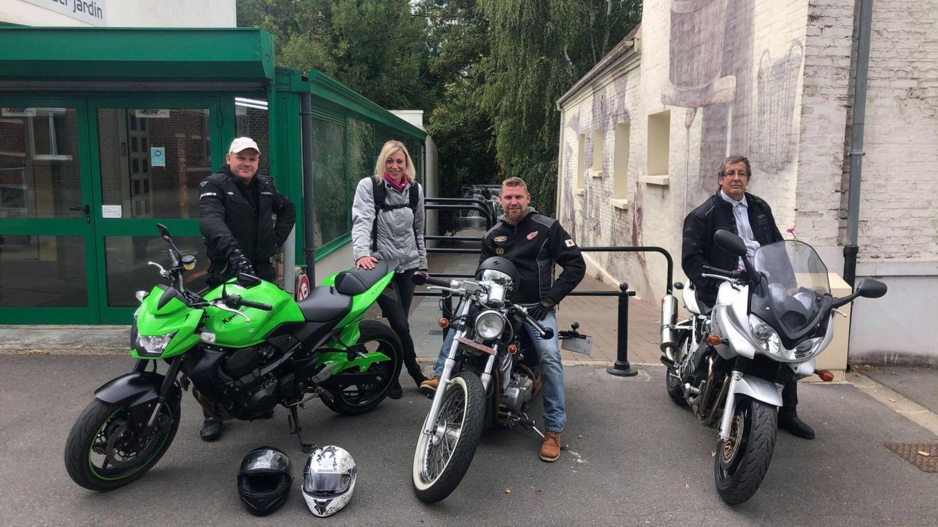 Souchez: Quelques motards sont venus dire au revoir à la cascade (vidéo)