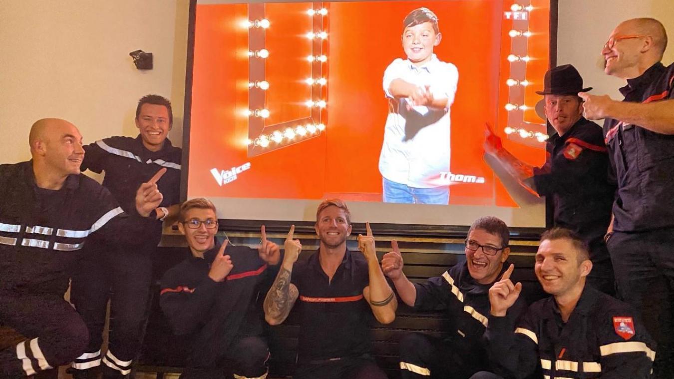 Les pompiers de Boulogne soutiennent le fils de leur collègue, qui participe à The Voice Kids