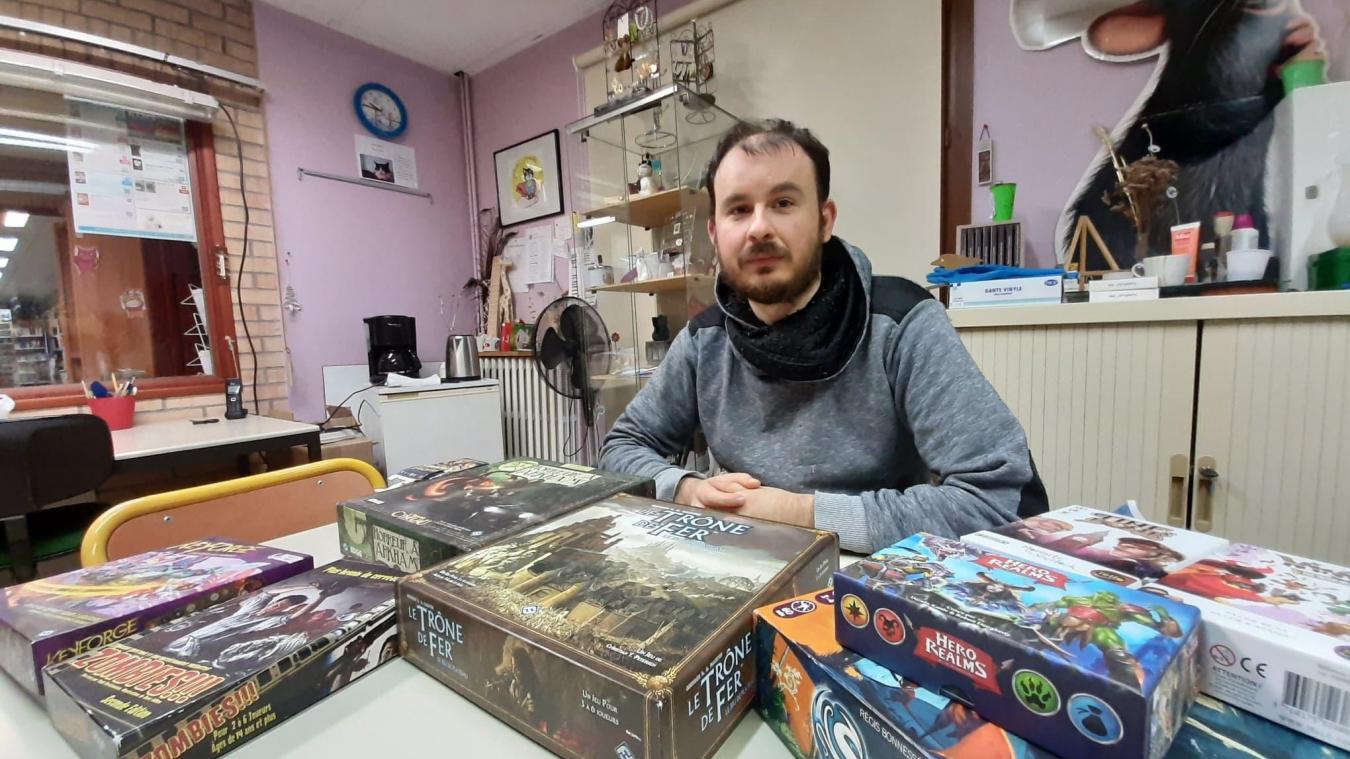 Rémi Buelens s'est lancé dans l'aventure des jeux de société.