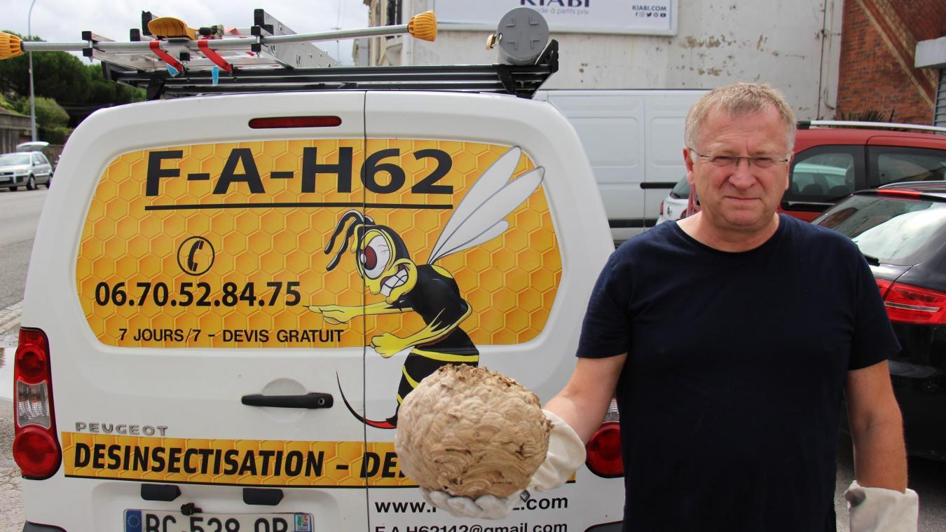 Bernard Depriester a créé la société FA H62 (Frelon asiatique Hauts-de-France), basée à Alincthun, en 2019.