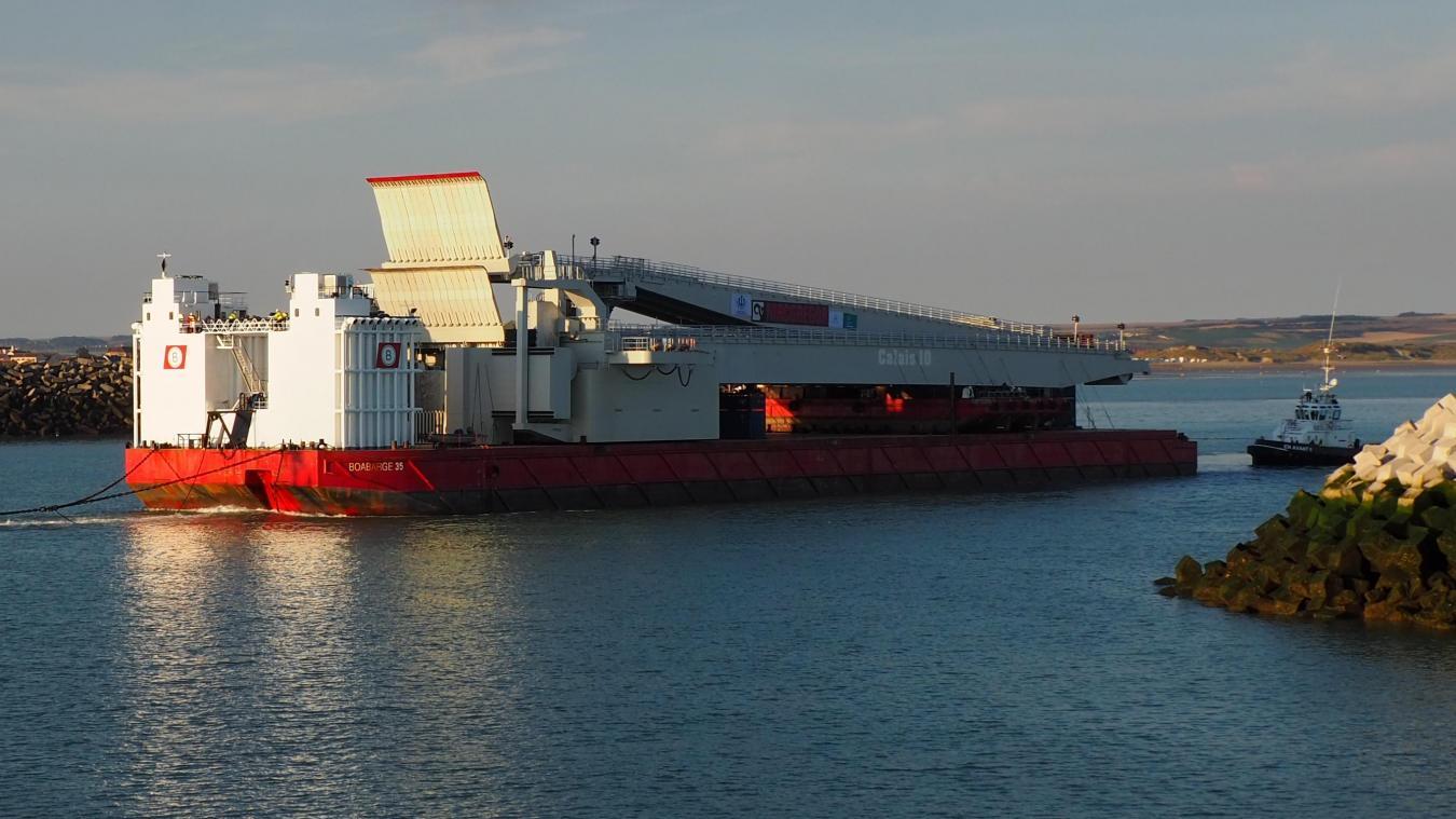 La paserelle flottante sera installée au niveau du quai P10 en fin de semaine, si la météo le permet.