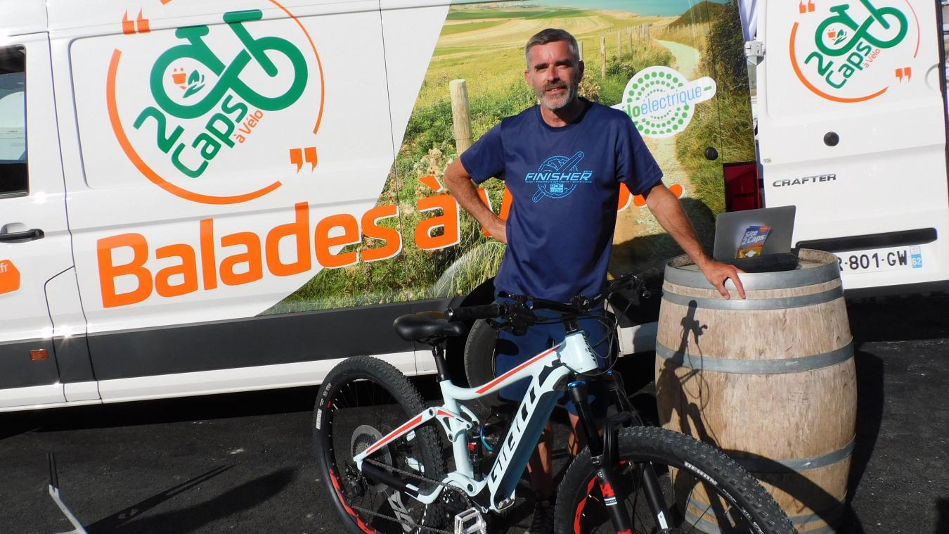 Vincent Verhack a créé 2 Caps à vélo, il y a tout juste un an.