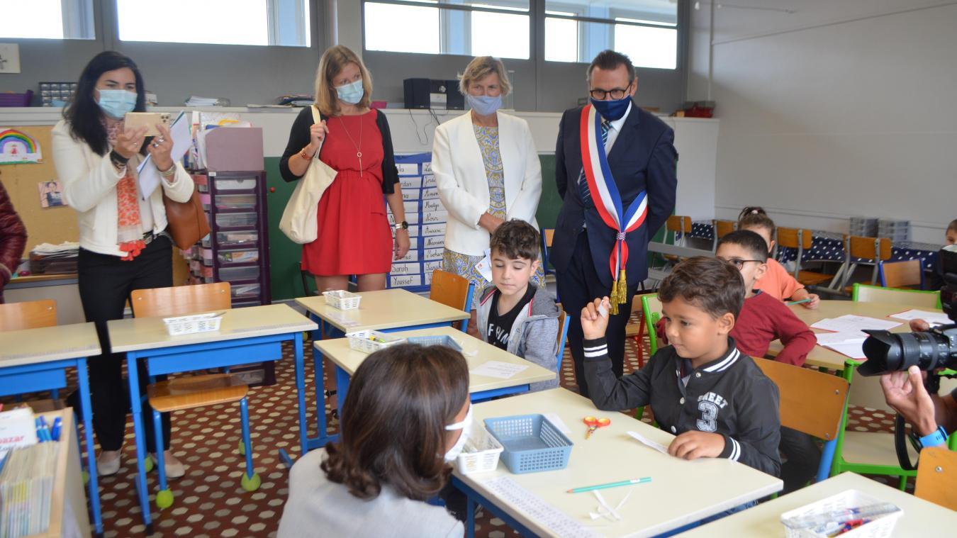 Nathalie Élimas, secrétaire d'État chargée de l'Éducation prioritaire était à l'école Voltaire le 4 septembre.